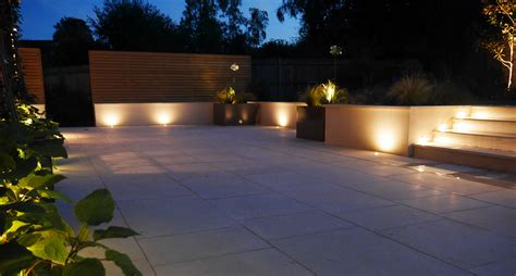 garden patio lighting garden lighting tunbridge area slate grey