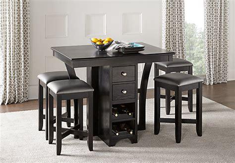 black 5 dining set ellwood black 5 pc bar height dining set casual