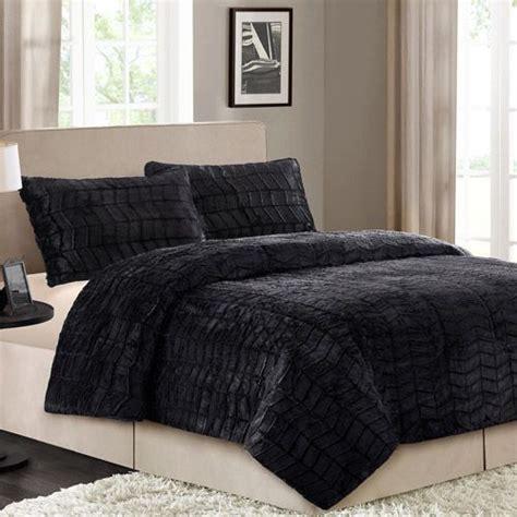 faux fur comforter set better homes and gardens faux fur bedding comforter set