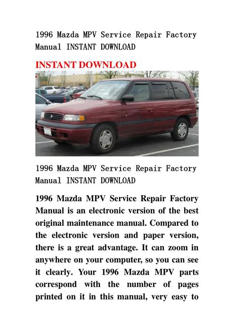 book repair manual 1989 mitsubishi sigma electronic toll collection service manual 1996 mazda mpv dash repair mazda mpv 1996 1989 1998 service repair manual