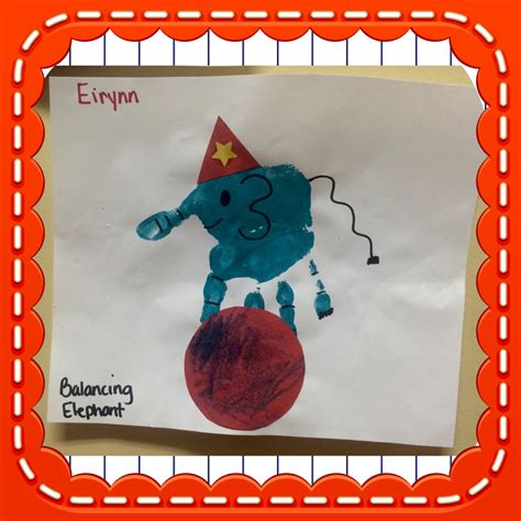 carnival crafts for elephant print for circus and animal themed