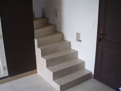 escalier en beton cire photo de beton cire catherine