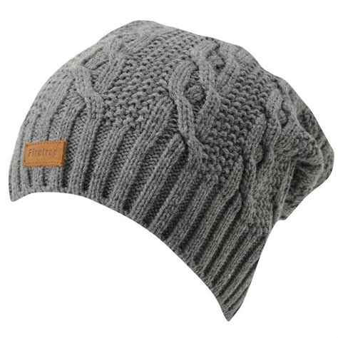 mens cable knit beanie firetrap mens slouch beanie winter warm hat cap cable knit