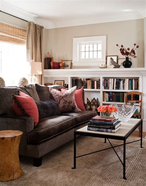 brown sofas in living rooms brown velvet sofa transitional living room