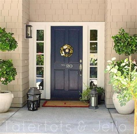 navy blue front doors navy front door planter door color