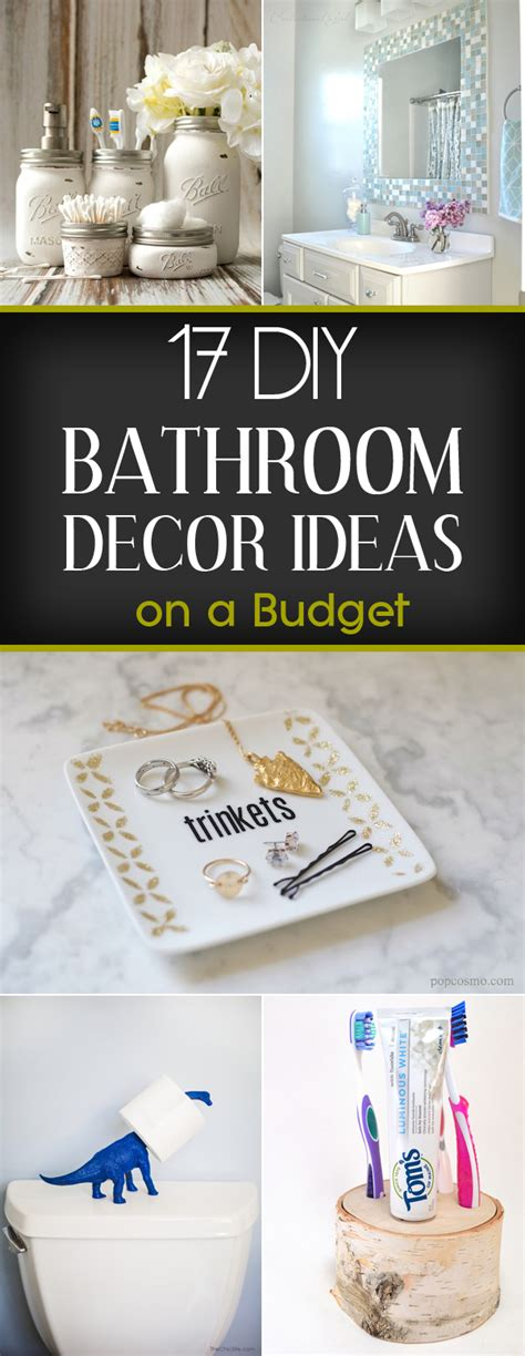 bathroom decorating ideas cheap 17 diy bathroom decor ideas on a budget
