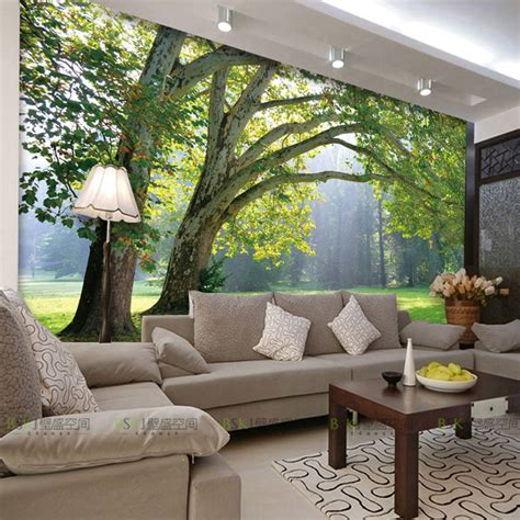 what are wall murals 3d photo wallpaper nature park tree murals bedroom living