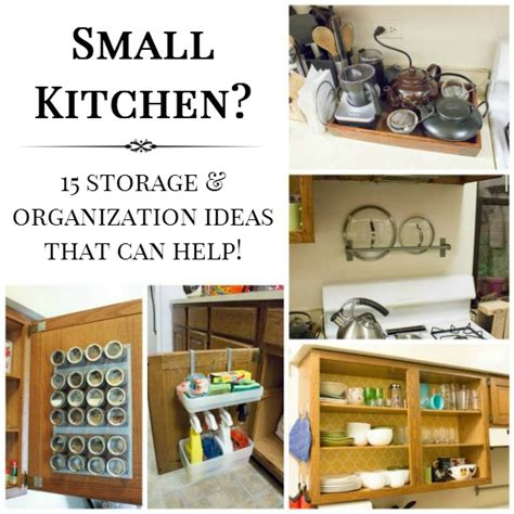 storage ideas for a small kitchen 15 small kitchen storage organization ideas