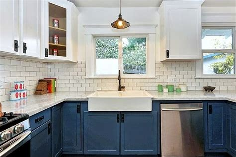 white and blue kitchen cabinets c b i d home decor and design color for kitchens the