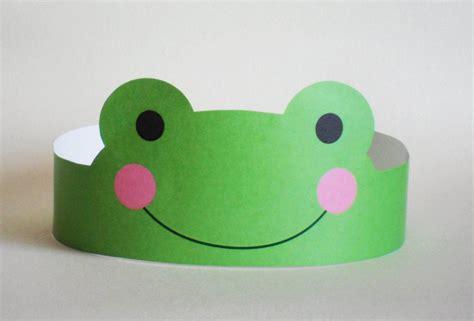 paper frog craft frog paper crown printable
