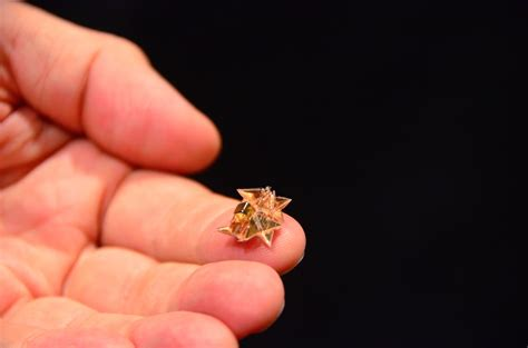 how to make a origami robot origami robot folds itself up does cool stuff dissolves