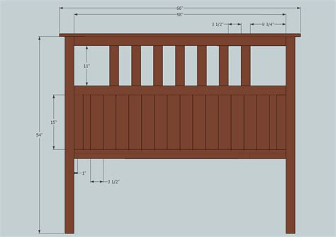 measurements for a bed size bed headboard dimensions