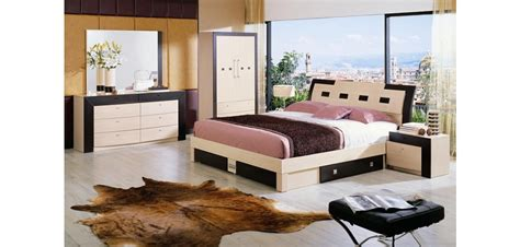 two tone bedroom furniture concord italian bedroom set in two tone finish and storage