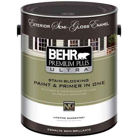 home depot ultra paint behr premium plus ultra 1 gal ultra white semi gloss