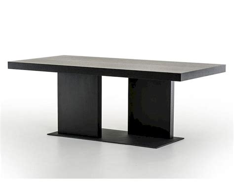 dining table contemporary contemporary black oak dining table 44d190t blk
