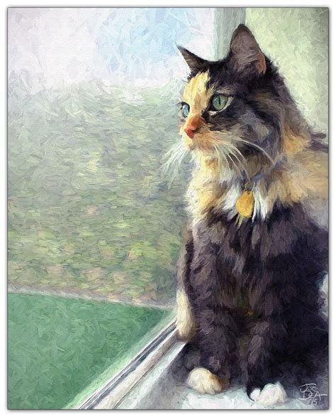 cat painting photos cat in window painting