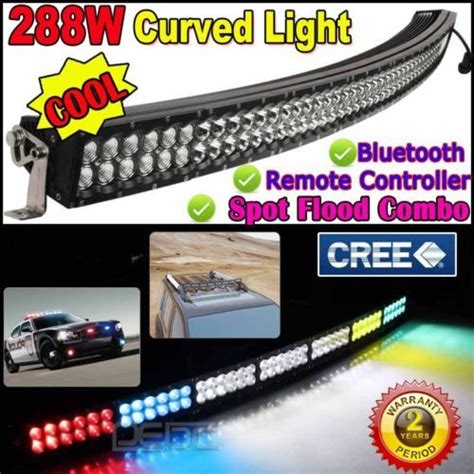 led light bar ebay cree 288w 52 curved led light bar wireless remote