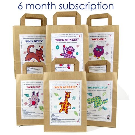 crafting kits for sock creature craft kit subscription by sock creatures