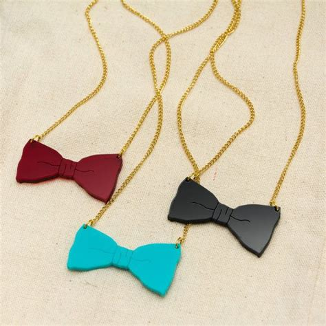 how to make laser cut acrylic jewelry laser cut acrylic bow necklace