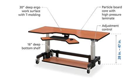 standing desk height ergonomics height adjustable standing desk afcindustries