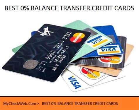 Best 0 Balance Transfer Credit Cards Mycheckweb