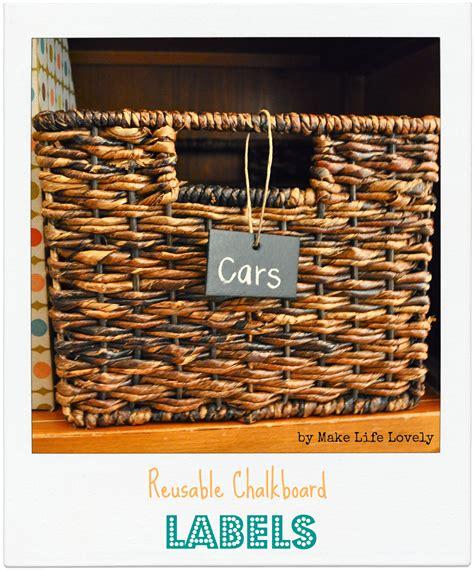 diy chalkboard labels for baskets diy reusable chalkboard labels giveaway make lovely
