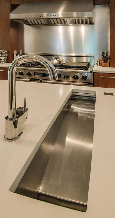 prep sinks for kitchen islands in island trough sink makes prep so much easier