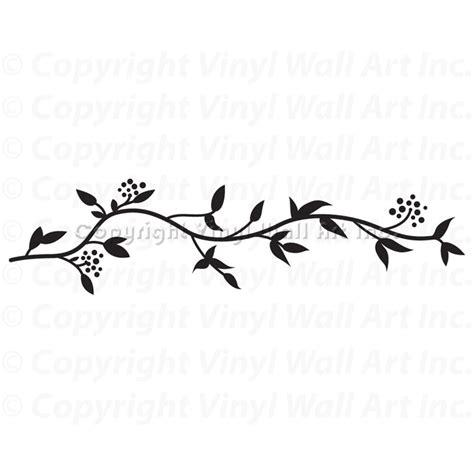 Wall Border Stickers leafy border vinyl wall decal