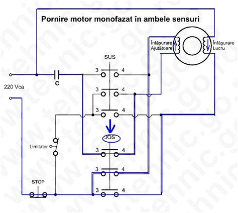 Schimbare Sens Motor Electric Monofazat by Pornire Motor Monofazat In Ambele Sensuri
