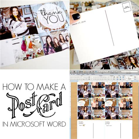 how to make a card in microsoft word how to make postcards in microsoft word c r a f t