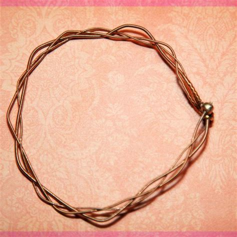 how to make guitar string jewelry 1000 ideas about guitar string jewelry on