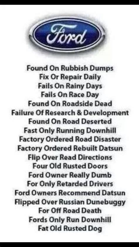 Ford Jokes by Die Besten 25 Ford Witze Ideen Auf Ford Humor