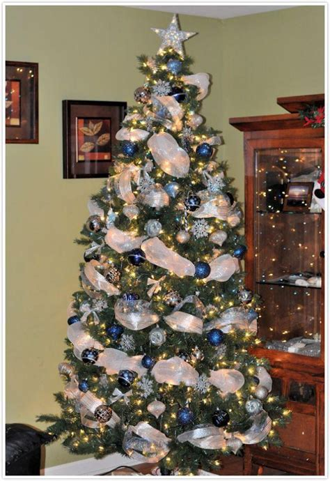 blue and silver tree decorations ideas engaging tree decorated in silver and blue color