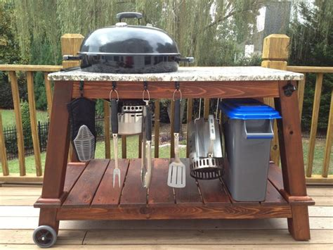 grill table plans how to build a weber grill table woodworking projects