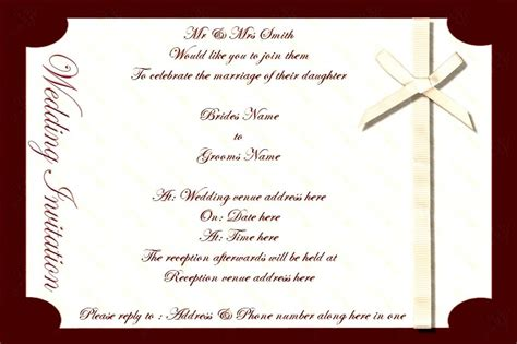 invitation card software free free sles of wedding invitation cards indian wedding