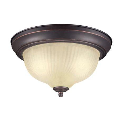 home depot ceiling lights hton bay fzp8012a orb rubbed bronze 2 light flush