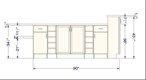kitchen base cabinet height using wall cabinets as bases for a unique kitchen island