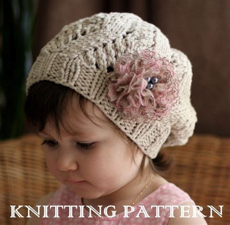 toddler knitting amour slouchy hat kniting pattern toddler child