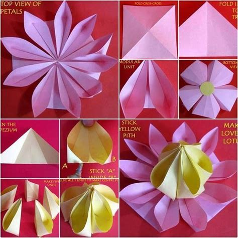 how to make paper origami flowers for easy paper folding crafts recycled things