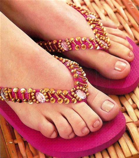 diy beaded flip flops 10 diy flip flop projects how to embellish your sandals