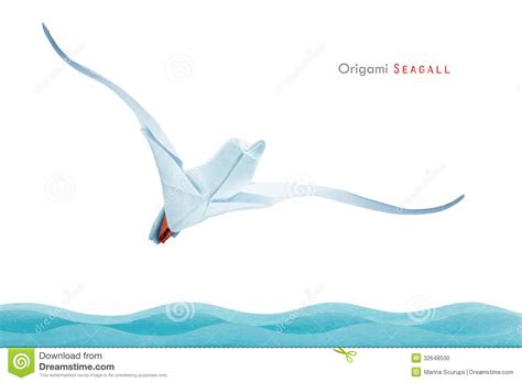 origami seagull origami seagull stock photo image of image animals