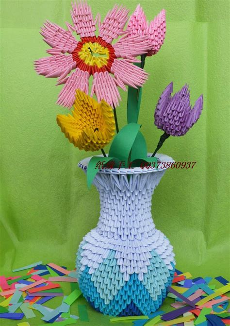 3d origami flower vase sale flower vase handmade by 3d origami paper child