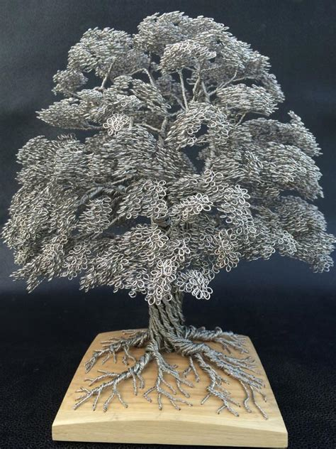 how to make a out of wire tree made from aluminum wire pics