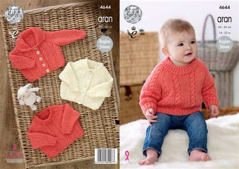 baby aran knitting patterns uk knitting pattern king cole baby aran raglan sleeve cabled