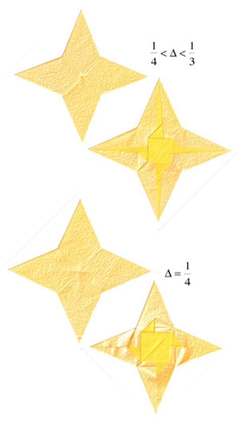 four pointed origami how to make a 2d four pointed origami page 15