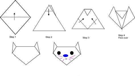how to make an easy origami cat bowers origami for