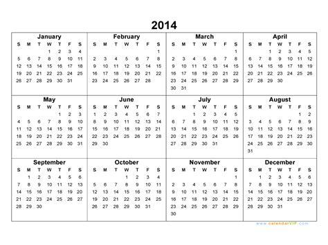 2014 calendar blank calendar