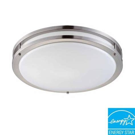 home depot ceiling light fixtures hton bay 2 light brushed nickel fluorescent ceiling