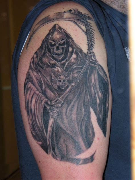 angel of death tattoos for men cool tattoos bonbaden
