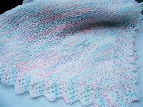 easy lace edging knitting pattern easy baby blanket knit lace and baby blankets on